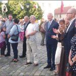 Wśród uczestników imprezy byli: prezydent Wejherowa Krzysztof Hildebrandt z małżonką, zastępca prezydenta Arkadiusz Kraszkiewicz, a także gwardian Klasztoru OO. Franciszkanów o. Daniel Szustak. Fot. Urząd Miejski w Wejherowie