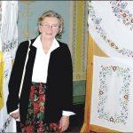 Teresa Dembkowska i jej prace. Fot. Leszek Spigarski