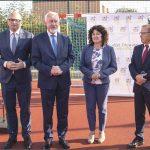 W uroczystym otwarciu boiska uczestniczyli przedstawiciele władz Wejherowa. Fot. Urząd Miejski