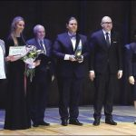 Uroczystość wręczania nagród laureatom.