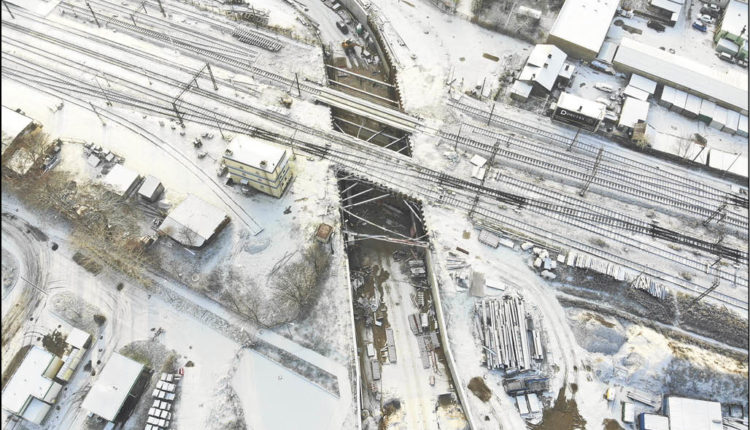 Węzeł Wejherowo (Kwiatowa) - tunel w budowie.