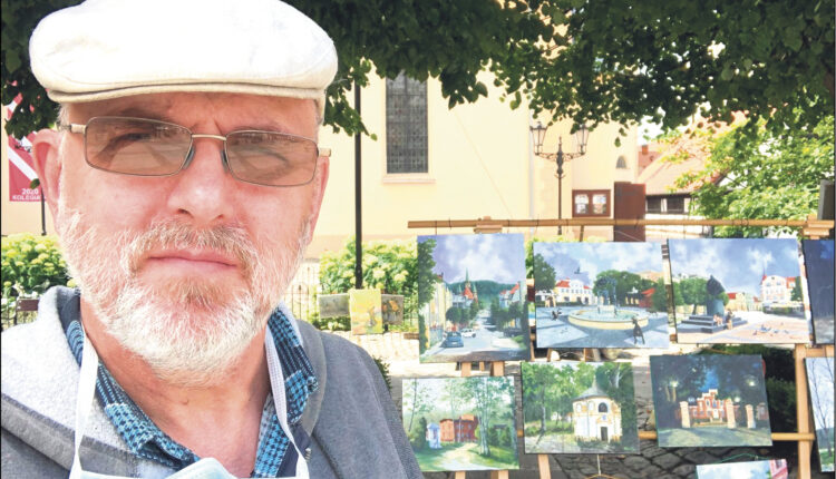 Tadeusz Trocki i Wejherowo na jego obrazach. Zdjęcia pochodzą ze strony: https://www.facebook.com/tadeusz.trocki.art